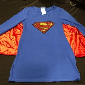 DC Comics Supergirl Superman Dress with Wings Cape
